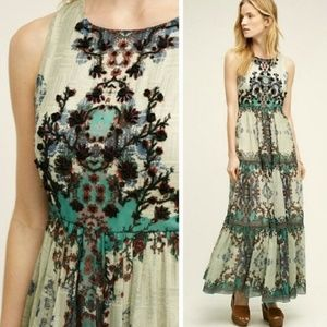 New Anthropologie Madera Beaded Maxi Dress